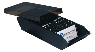 product image - Business Card File Box
