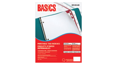 photo about Printable Stationeries identify Basics® Printable Tab Indexes Laser 5-Tabs 5 sets/pkg