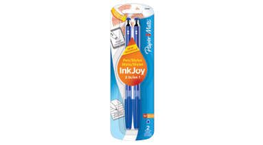 Amazon.com : Paper Mate InkJoy 100ST Ballpoint Pen and Touchscreen Stylus,  Capped, Black (1920022) : Office Products